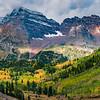 Maroon Bells Peaks Above Maroon Lake