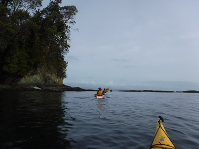 Lydia, Dick and Michael leading the way - grateful to have found experienced local sea kayakers who let me tag along!