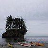 I always love how bright kayak colors contrast against the brown/grey/green of the PNW coast