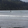 There was one surfer and one SUP person enjoying the baby waves.