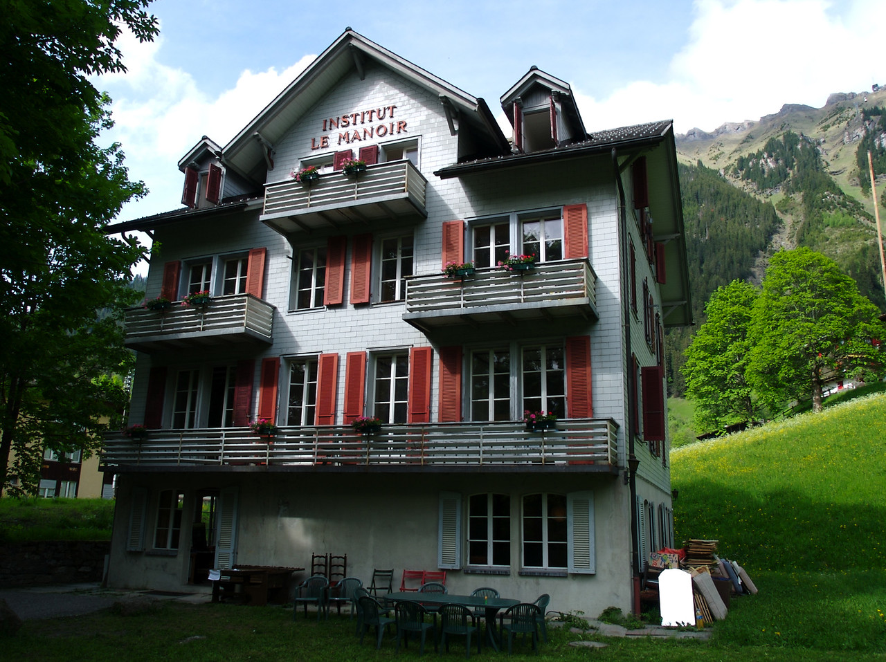 """29th May 2006 - Our accomodation in Wengen, well worth a look<br /> <br /> Many Many thanks to Angela and Christian (Angela is a very good friend of Trude my sister). We stayed with them at their new location, thankfully it is only a 100 Meters from the train station. If you are thinking of a holiday in Wengen and want good value accomodation then go to  <a href=""""http://www.old-lodge.ch"""">http://www.old-lodge.ch</a> or call them on +41 78 745 58 50"""