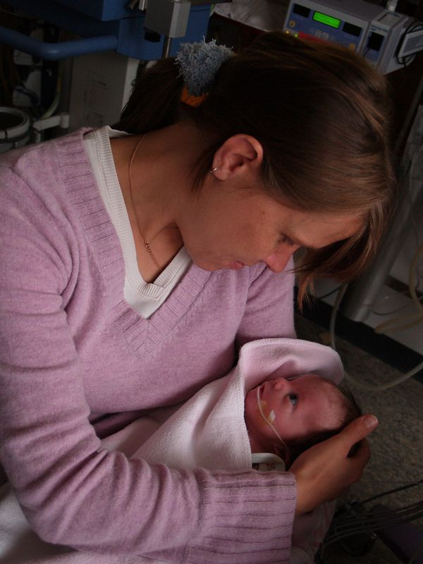 Sunday 23rd Oct 05 -  Kerstin also gets to hold him after me. She had also changed his nappy earlier (I didn't want to be selfish so I allowed her to do that task) <br /> <br /> Tomorrow they promised Kerstin she can wash him, its amazing what simple things you look forward to.