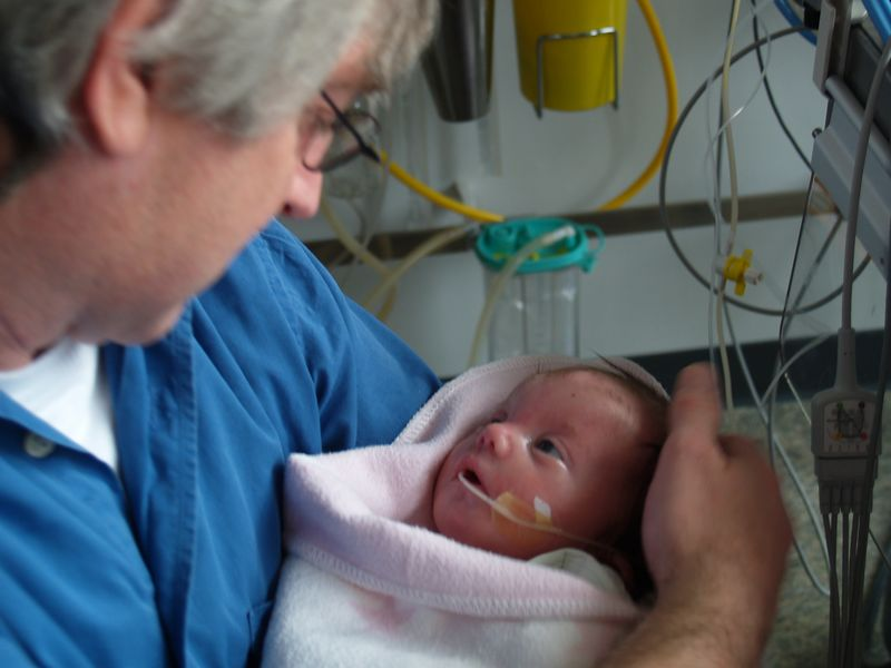 Saturday 23rd Oct 05 - I finally get to hold my new son