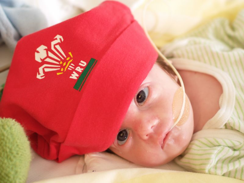 Saturday 5th Nov 05 - Wales 3 - New Zealand 41  not a good result for us, The kiwis are awesome at the moment.<br /> <br /> No change with Cai - He did however get to meet his grandparents on kerstins side for the first time, things however got to me and Kerstin (doubt if winning the rugby would have changed things much so don't feel bad in New Zealand :-) ) , so to help us along a bit we set up Cai's cot in his room and made it ready for when he comes home.