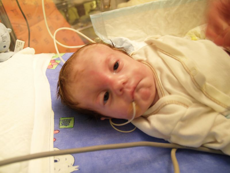 Wednesday 2nd Nov 05 - This is what he looks like getting his nappy changed (if only pampers had come up with the money they could have got a good sponsorship deal)
