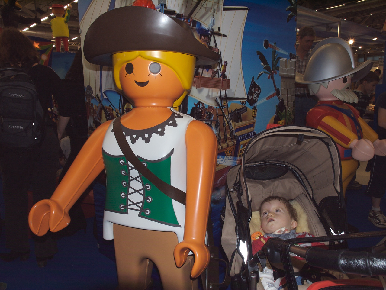 Sunday 7th oct 2007 - Cai is not sure quite what to make of playmobil women.