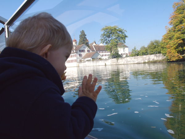 Sunday 23rd sept 2007 - Cai admires the view from the boat