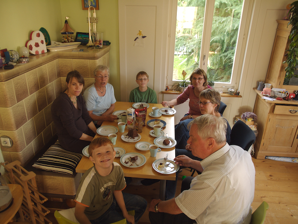 Friday 12th Oct 2007 - It doesn't seem fair somehow, its Cai's birthday and we are the ones eating the cake.