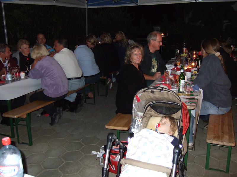 Sunday 16th sep 2007 - The party goes on, even though Cai sleeps through it.