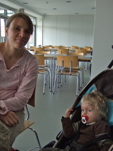 """Sunday 16th Sep 2007 - Whilst waiting for our appointment  in the hearing/deaf centre restaurant I waved to Kerstin at the coffee machine and ended up with 2 teas 1 ice cream and 3 slaps across the face :-) which gives me an idea for a sitcom. <br /> <br /> For those of you that didn´t get the joke here's a clue """"sign language"""""""