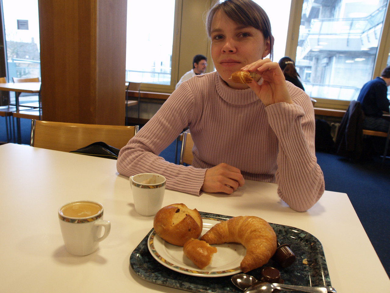 """Friday 24th March 2006 - As we sit in the hospital restaurant having a coffee Kerstin says """"we had better enjoy this as it is probably our last warm coffee"""""""