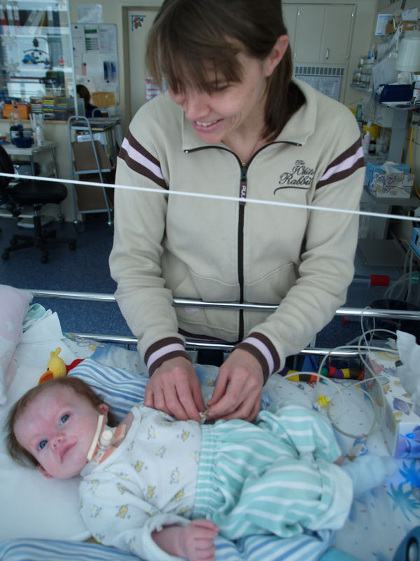 Tuesday 7th Mar 06 - Cai and his Mum.<br /> <br /> Cai is doing okay, but unfortunately missed his dad and has had a fever over the past few days while I was back in the UK. Today when I visited him he was looking much better and his temperature has dropped to a more normal level.