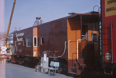 2021.004.9.ARPE-020--j david ingles 35mm kodachrome--SP--steel caboose on display at American Railway Progress Exposition at ICRR 31st St yard--Chicago IL--1963 1000