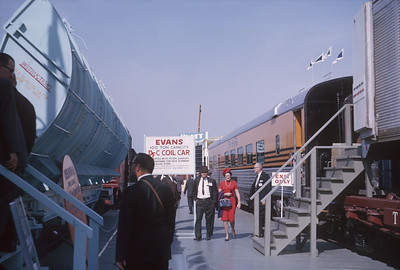 2021.004.9.ARPE-021--j david ingles 35mm kodachrome--D&RGW--diner passenger car on display at American Railway Progress Exposition at ICRR 31st St yard--Chicago IL--1963 1000