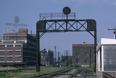 2021.004.9.INDY-018--j david ingles 35mm kodachrome--PRR--yard view with Wabash on left--Fort Wayne IN--1963 0800