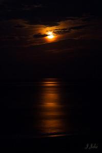 Full Moon Over The Atlantic