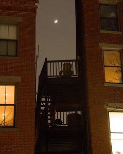 Balcony Chair in Winter Storm