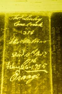 Thomas Lindley Cain Creek 356 [two unreadable words] Deed Nov. 13, 1756, Feb. 26, 1755 - Orange