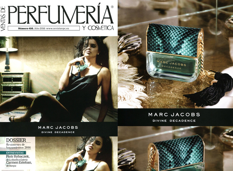 MARC JACOBS Divine Decadence 2016 Spain recto-verso (VPC magazine cover) 'The new fragrance for women''