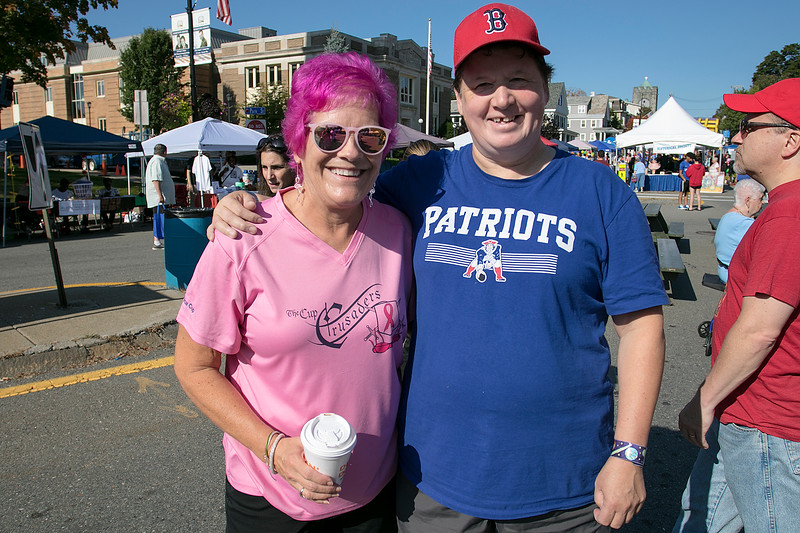 The 26th Johnny Appleseed Festival was held on Saturday, September 21, 2019 in Leominster. Having fun at the festival is Kathy DiRusso and Barbara White. SENTINEL & ENTERPRISE/JOHN LOVE