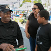 The 26th Johnny Appleseed Festival was held on Saturday, September 21, 2019 in Leominster. Having a good laugh with Boston Celtics Legend Sam Jones is Cheryl Robinson and her son Holden Robinson, 10, both from Shirley. SENTINEL & ENTERPRISE/JOHN LOVE