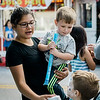 Gianna and Dean DeMar, 2, gets ice cream from the Fidelity Bank truck during the Johnny Appleseed Festival on Saturday afternoon in Leominster. SENTINEL & ENTERPRISE / Ashley Green