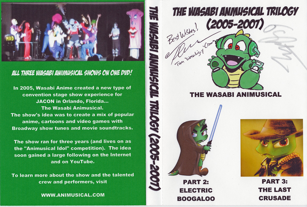 "My one treasure from JACON, the Animusical DVD autographed by Tom ""Wasabiguy"" Croom and Ken Nabbe aka Joey Snackpants."