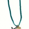 """7-RM68/273TQ CO74  ST JUDE AND STERLING DOVE ON WOVEN TURQ CHAIN  16+2"""""""