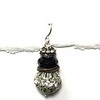 8-OX-2RS CO48  TWO RHINESTONES WITH COPPER SPACER AND ONYX RONDELLE