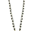 7-RSO-OX CO89  VINTAGE EARRING WITH APPLIED CROSS ON ONYX ROSARY AND SILVER CHAIN  16+2""
