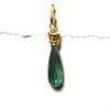 83365V-GRN CO55 VERMEIL POST AND CROWN WITH GREEN HYDRO BRIOLETTE
