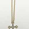 7-BC-GC CO79  CRYSTAL CROSS ON CHAIN  16+2""