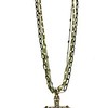 """7-3-RM265/34 CO69  STERLING CROSS ON BRONZE CROSS ON 3 DIFFERENT COLOR CHAINS  16+2"""""""
