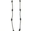 """7-RM274MOP CO49  BLACK MOTHER OF PEARL WITH BRONZE CROSS ON FILIGREE CHAIN  16+2"""""""