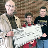 Kevin Harvison | Staff photo<br /> Wayne and Marilyn Grogan are the winners of the $500 drawing for the McAlester News-Capital current subscribers. Pictured from left Wayne Grogan, Marilyn Grogan and MNC District Manager Matt Gunion.