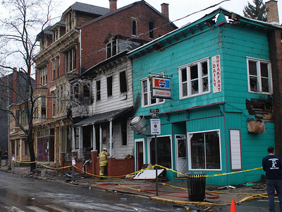 Four buildings were destroyed by fire on West Centre Street in Ashland.
