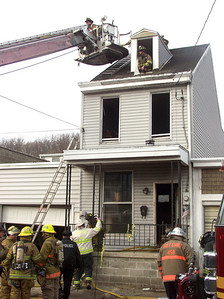 Fire heavily damaged this East Market Street home in Mahanoy City Wednesday afternoon.