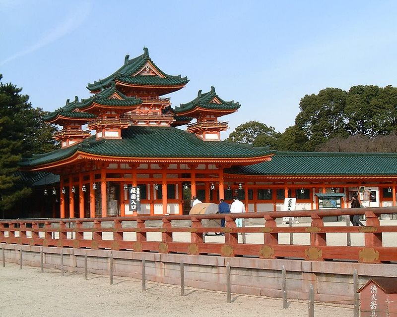 heian shrine <br /> kyoto 2004