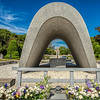 Hiroshima Victims Memorial Cenotaph, Hiroshima Peace Memorial Park, Hiroshima, Japan