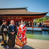 Wedding party at the Itsukushima Shrine, Hiroshima, Japan