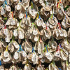 Oyster shell Ema or wishing tablets at Hasedera Temple, Kamakura, Japan