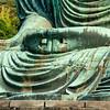 Detail, hands, Great Buddha, Kamakura