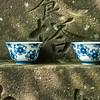 Offering cups, Hasedera Temple, Kamakura, Japan