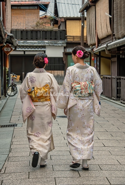 A walk in the Gion district, Kyoto, Japan