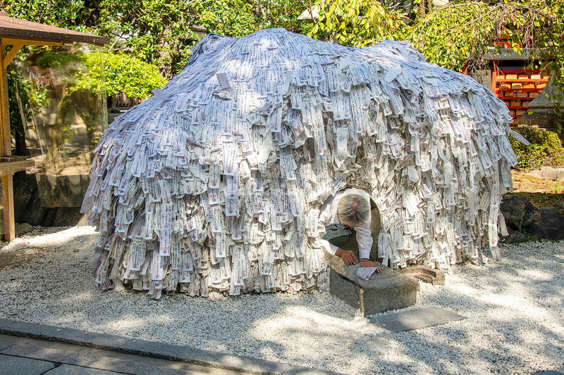 The Igloo shrine at Yahrinesui Kompira, Kyoto