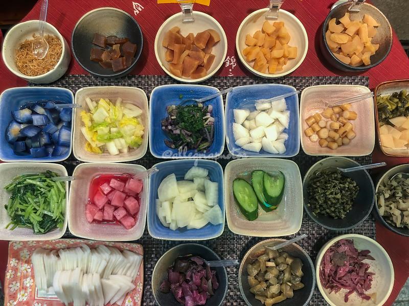 Variety of pickles, Nishiki market, Kyoto, Japan
