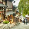 Walking down Sannenzaka street, Kyoto