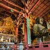 Giant Buddah and Bodhisattva, Todaiji Temple, Nara, Japan