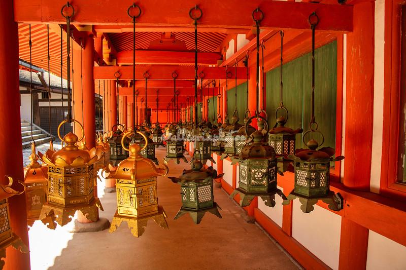 Lanterns at Kasuga Taisha shrine, Nara