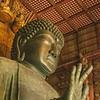 Detail of Buddha head, Todaiji Temple, Nara